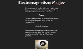 Electromagnetism: Maglev