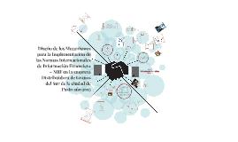 Diseño de los Mecanismos para la Implementación de las Normas Internacionales de Información Financiera