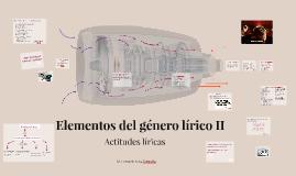 Elementos del género lírico II