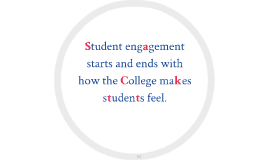 Student engagement starts and ends with how the College make