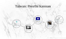 Taiwan: Preethi Kannan
