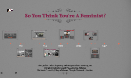 So You Think You're A Feminist?