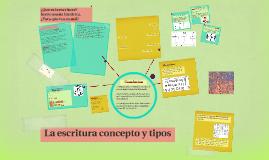 Copy of La escritura concepto y tipos