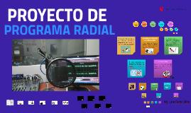 Clase N°15-PROYECTO RADIAL - RyRTV -UCV 2017