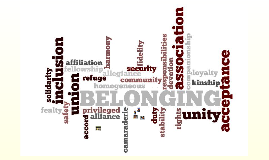 Copy of Belonging