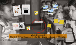 Week 1 Lesson 3 The Civil Rights Movement in the US – Brown vs Board of Education