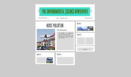 THE ENVIRONMENTAL SCIENCE NEWSPAPER