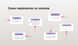 Como implementar un sistema