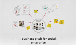 Business pitch for social enterprise.