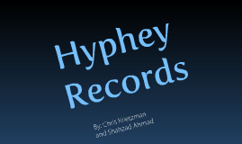 Shahzad Ahmad, Chris Krietzman - Record Label