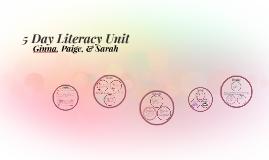 5 Day Literacy Unit