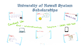 2015-16 UH System Common Scholarship Process (High Schools)