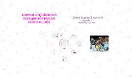 FORMULAS QUÍMICAS Y ESTEQUIOMETRÍA DE COMPOSICIÓN