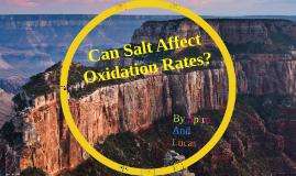 Does Salt Affect Oxidation Rates?