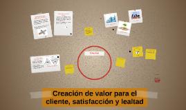 Copy of Creación de valor para el cliente, satisfacción y lealtad