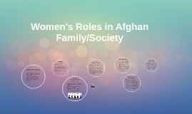 Women's Roles in Afghan Family/Society
