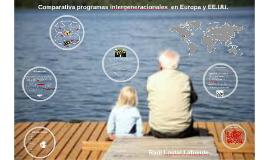 Comparativa programas intergenracionales  en Europa y EE.UU.