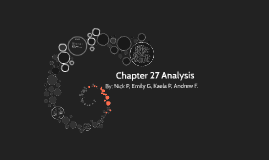 Chapter 27 Analysis