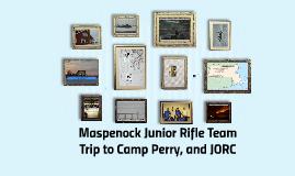 Maspenock Junior Rifle Team