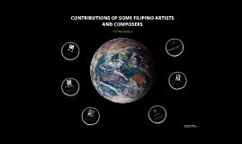 Copy of Contributions of Some Filipino Artists and Composers