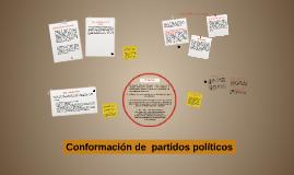 Conformación de  partidos políticos