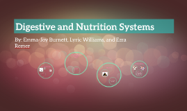 Digestive and Nutrition Systems