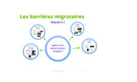 2.4 Les barrières migratoires