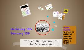 Background to the Vietnam War