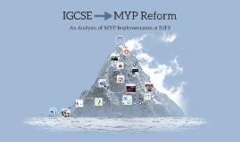 MYP --> IGCSE Reform