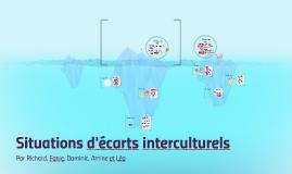 Situations d'écarts interculturels