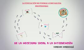 LA EDUCACIÓN NO FORMAL COMO SALIDA PROFESIONAL