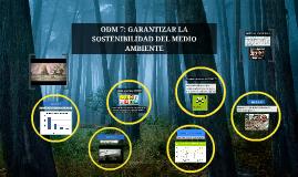 ODM 7: GARANTIZAR LA SOSTENIBILIDAD DEL MEDIO AMBIENTE
