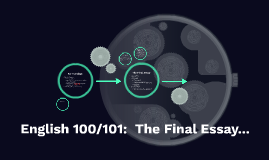 English 100/101: The Final Essay
