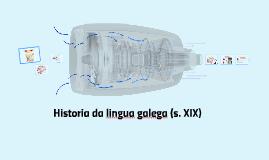 A lingua galega no século XIX