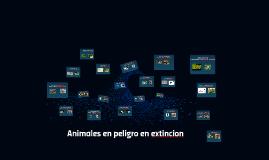 Animales en peligro en extincion