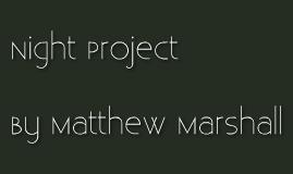 English II Night Project