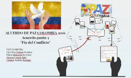 ACUERDO DE PAZ COLOMBIA 2016