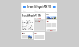 Errores del Proyecto PGN 2015