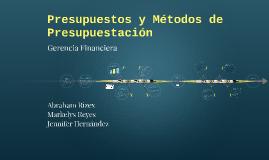 Copy of Presupuestos y Metodos de Presupuestación