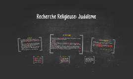 Recherche Religieuse:Judaïsme