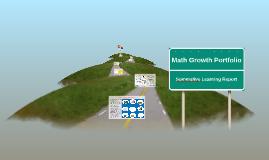 Math Growth Portfolio