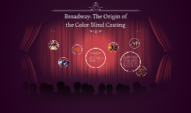 Broadway: The Origin of the Color Blind Casting