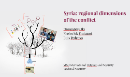 Syria: regional dimensions of the conflict
