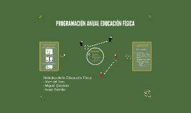 PROGRAMACIÓN ANUAL EDUCACIÓN FÍSICA