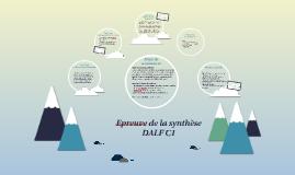 Epreuve de la synthèse - DALF C1