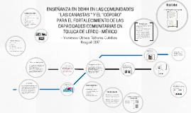 """ENSEÑANZA EN DDHH EN LAS COMUNIDADES """"LAS """" Y EL """"CÓPORO"""""""