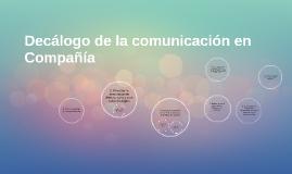 Decálogo de la comunicación en Compañía