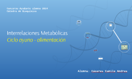Interrelaciones Metabólicas