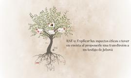 RAE 9: Explicar los aspectos éticos a tener en cuenta al pro