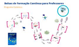 Bolsas de Formação Contínua Comenius